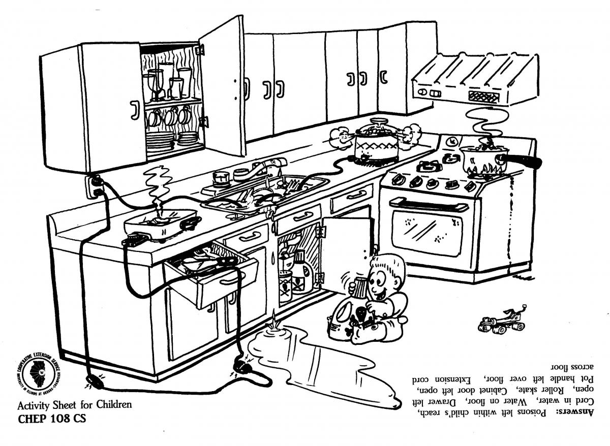 Dangers In The Kitchen Worksheet