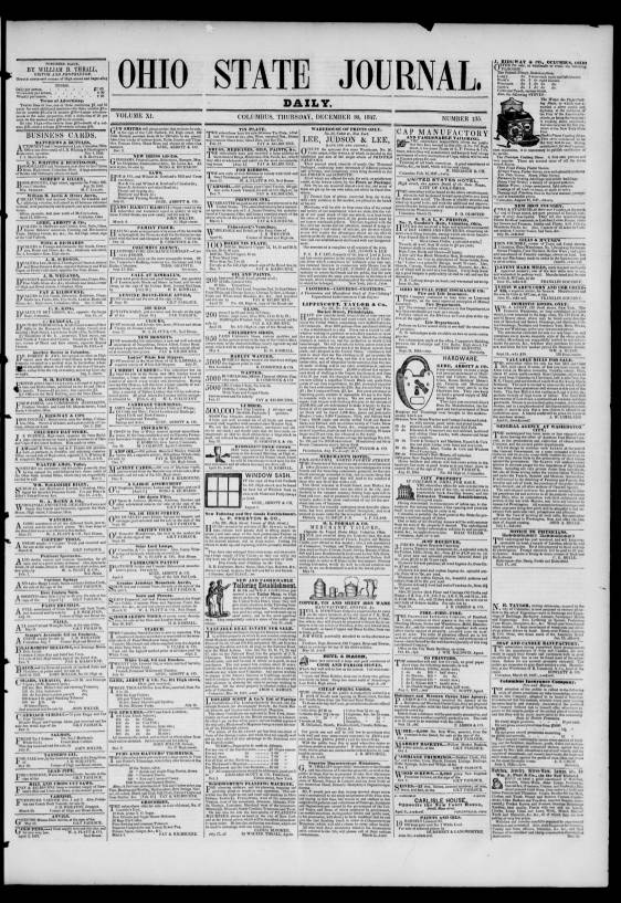 Ohio State Journal Columbus Ohio 1847 1847 12 30 Daily