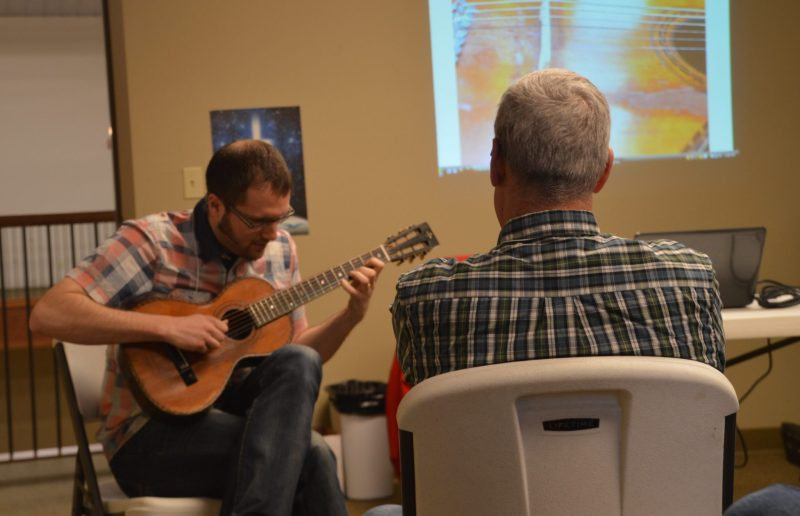 Reed Jones plays the guitar during a workshop he presented at the 2015 Annual Conference Assembly.