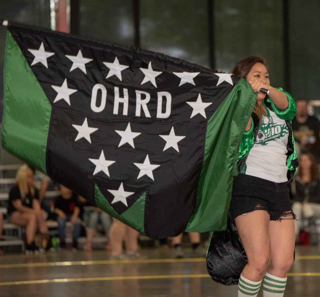 BrutaChris with flag OHRD v Gem City 5.11.19 Chris Baker