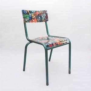 Chaise écolier comics