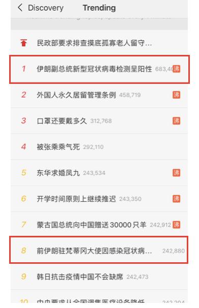 Weibo screen grab, Feb. 28, 2020
