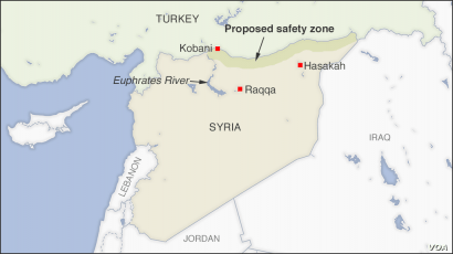 Map of Syrian Safety Zone