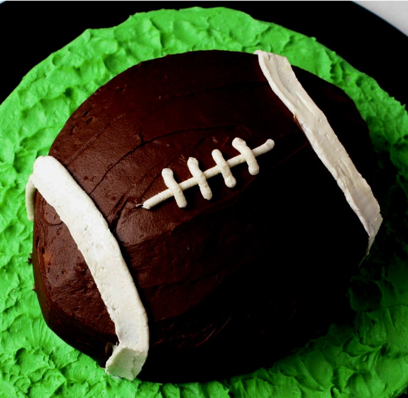 Football Cake- Crazy Simple Super Bowl Food Ideas Guaranteed to Wow| ohlade.com