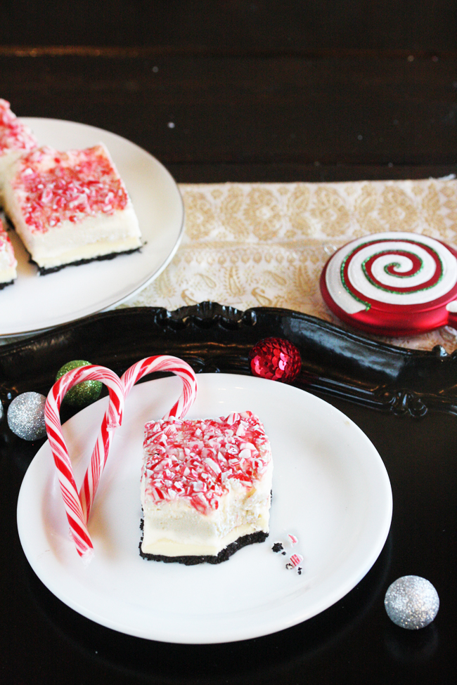 Peppermint Bark Marshmellow Cheesecake Bars