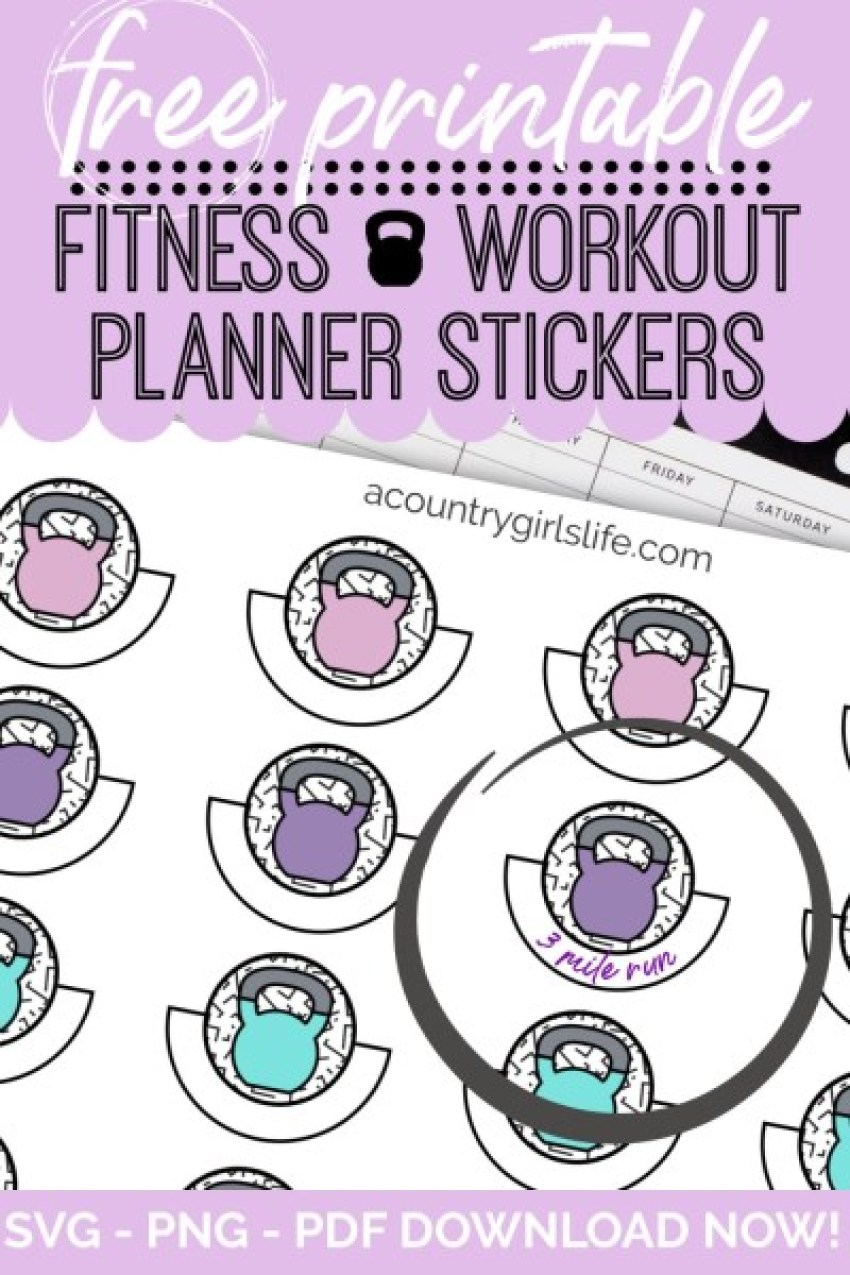 Fitness Workout Planner Stickers