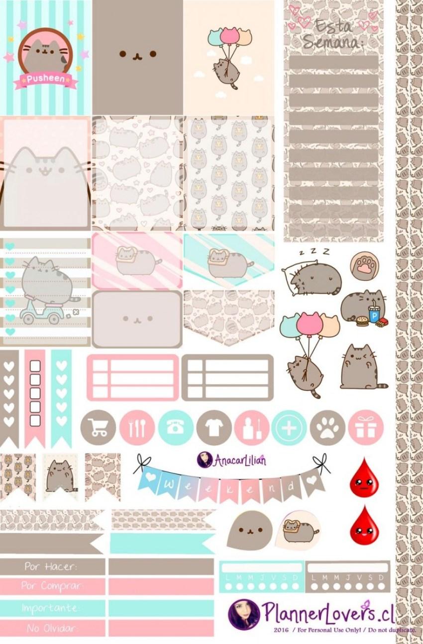Pusheen Kitty Planner Stickers