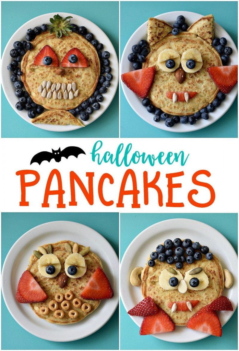 Halloween Breakfast pancake ideas