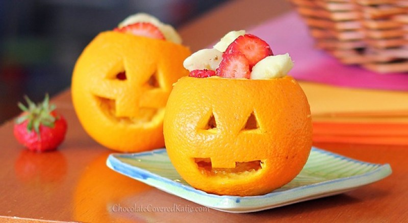 Jack o lantern orange snacks