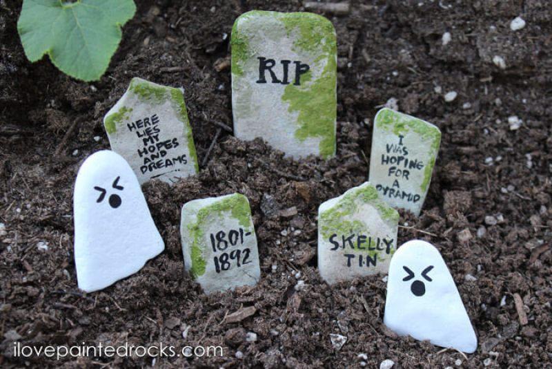 Graveyard Painted Rocks