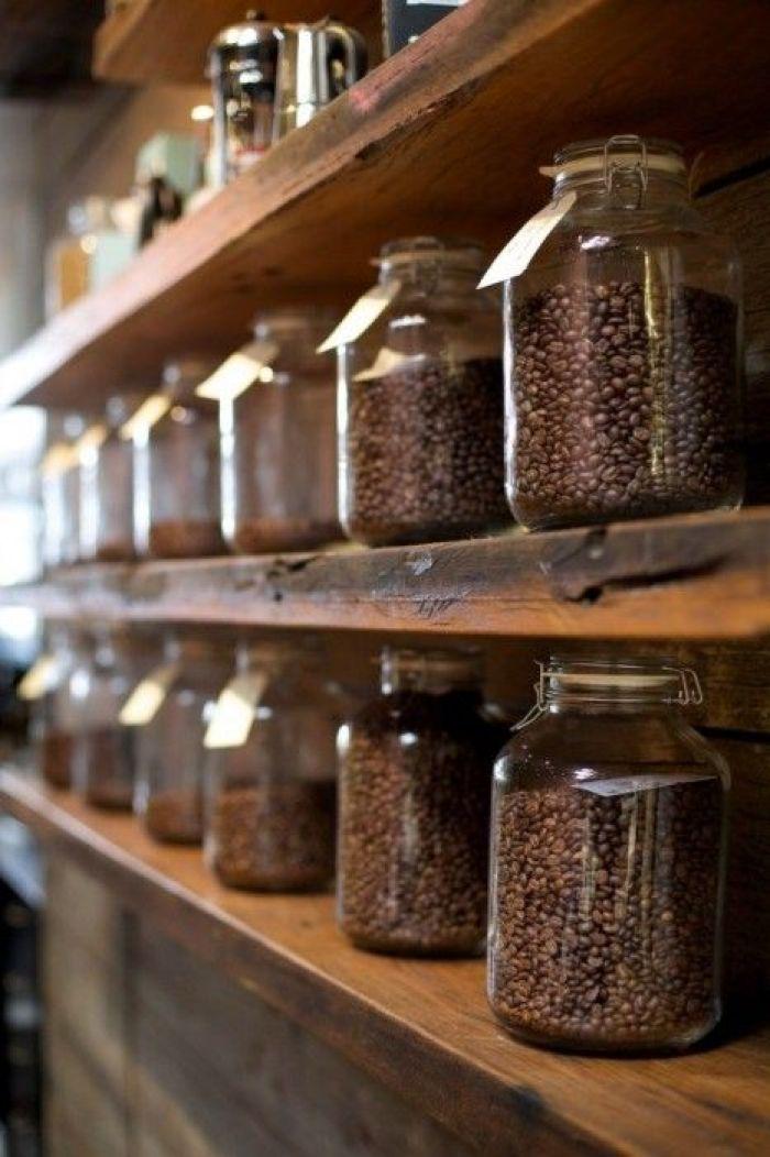 coffee bean station decor