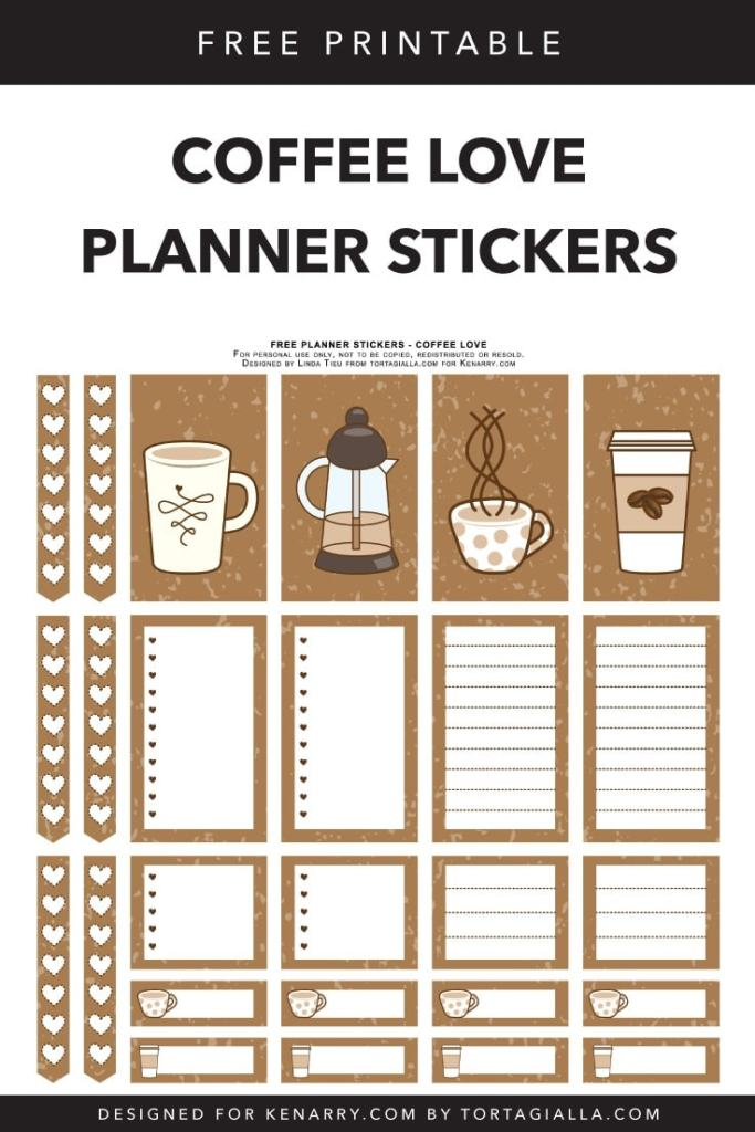 Coffee Love Free Printable Planner Stickers