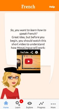 French vocabulary mosalingua App