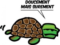 French expression: Doucement Mais Surement