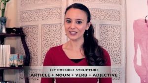 French for Beginners Lesson 4.4 on how to form a basic sentence