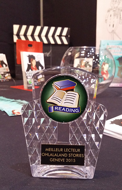 At the book fair in Geneva, we had one sweepstake a day to award one OhlalaLand best reader!