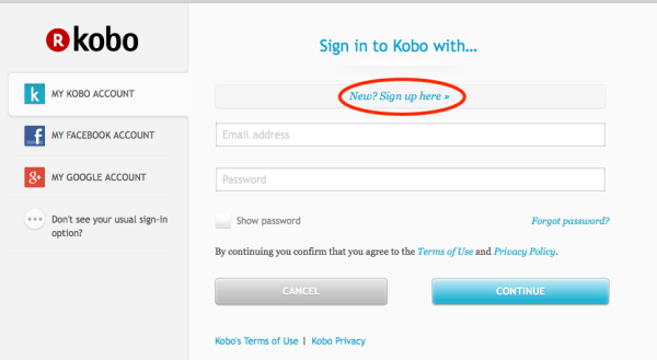 Kobo_create an account_1