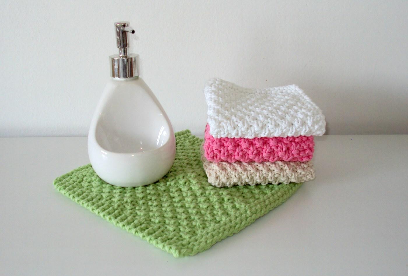 seed stitch dishcloth moss stitch washcloth