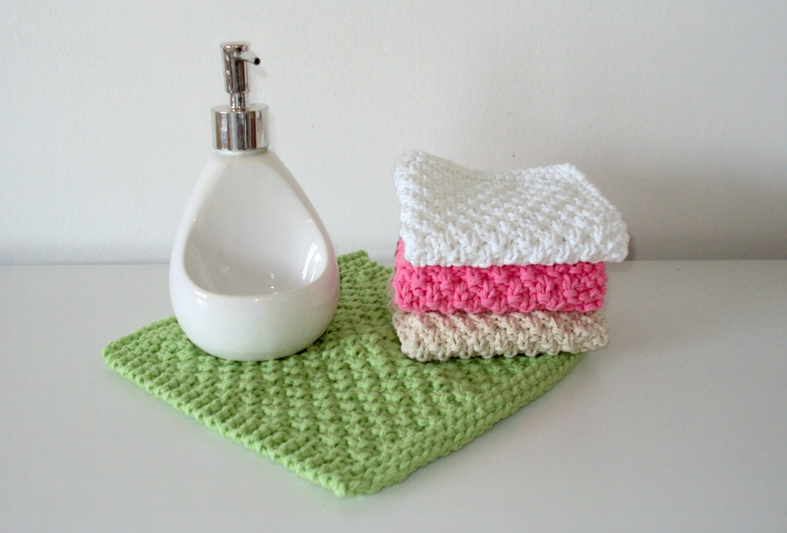 seed stitch dishcloth moss stitch washcloth