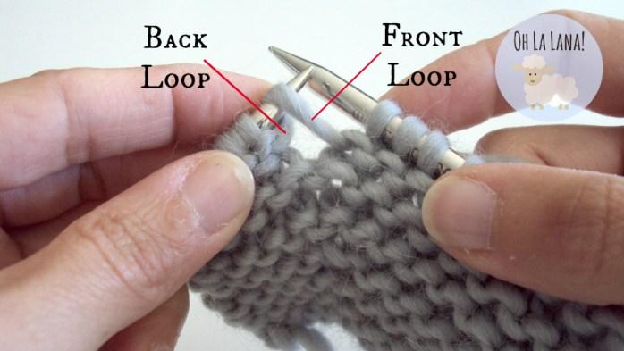 knitting tutorial back loop front loop
