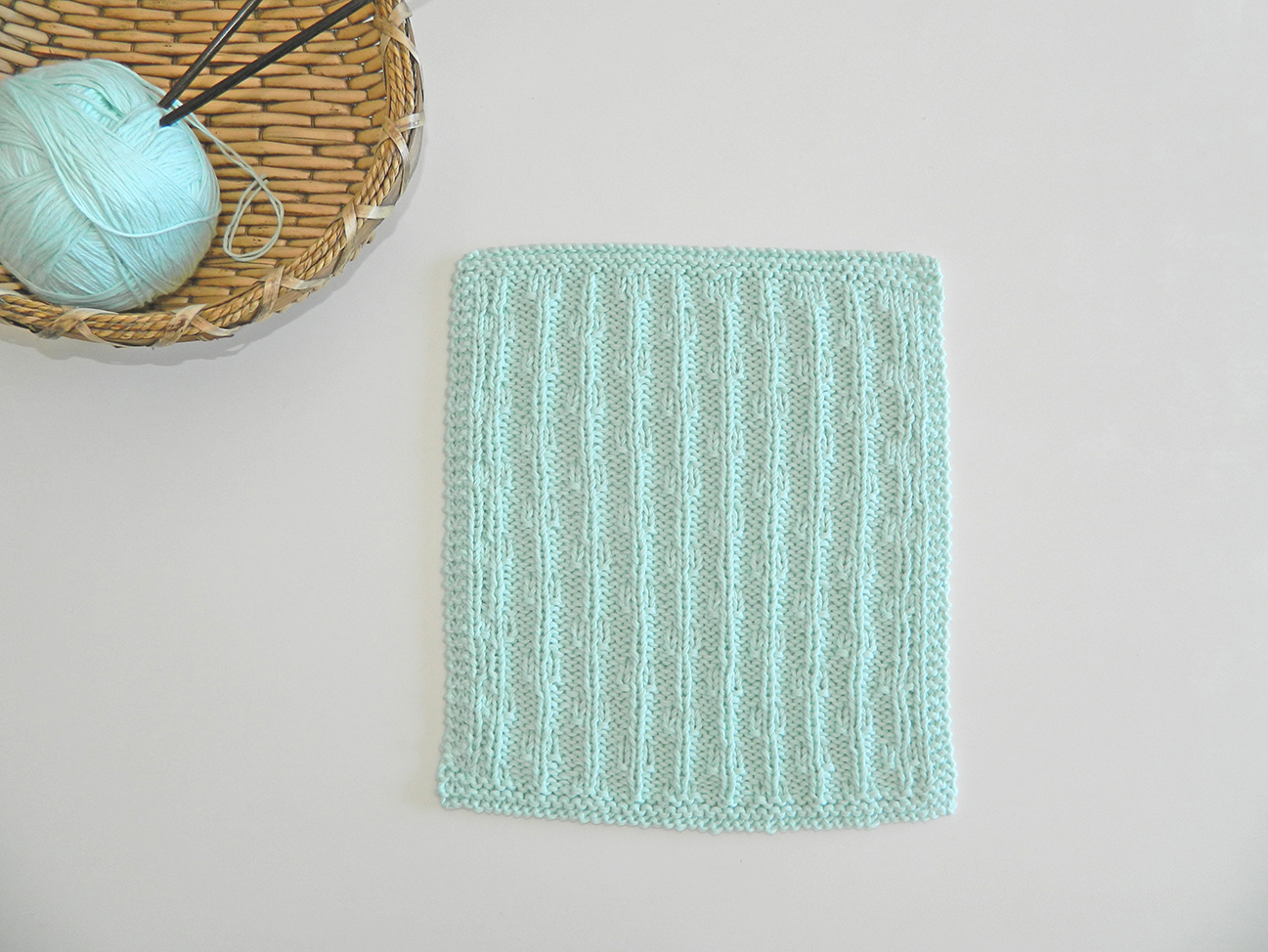 chains dishcloth knitting pattern