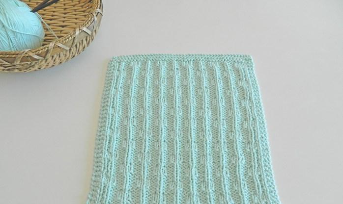 chains dishcloth knitting pattern
