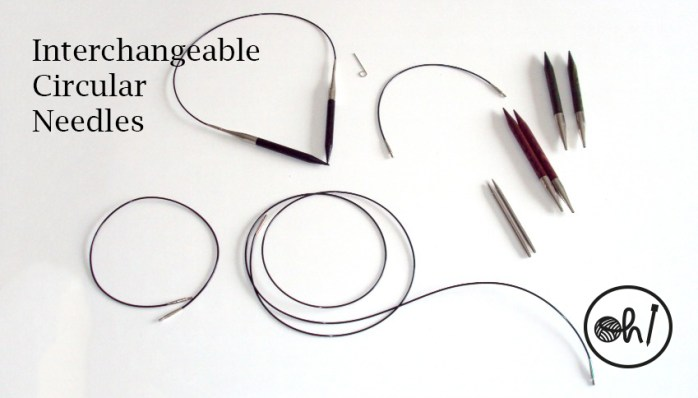 Interchangeable circular needles