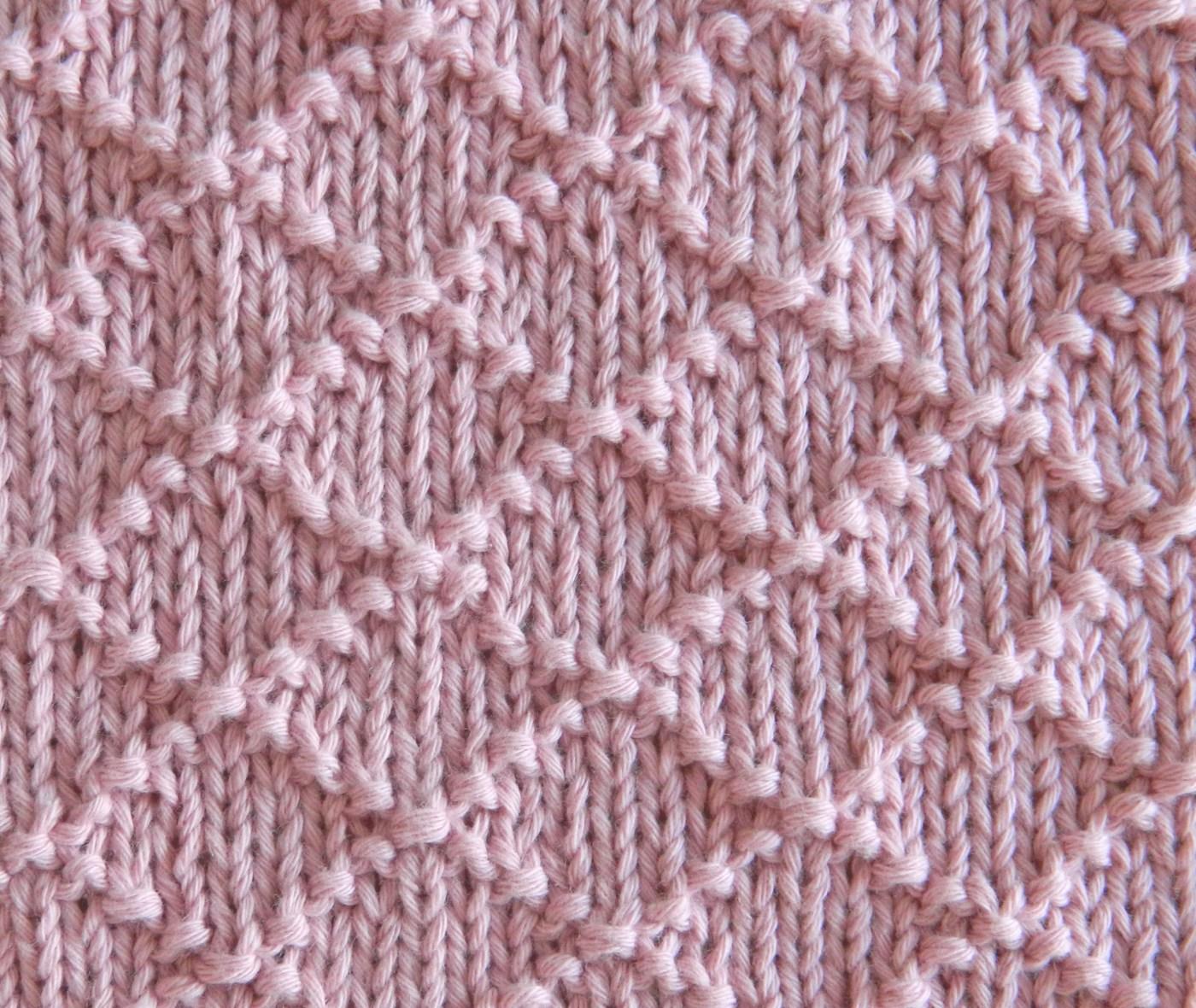 rhombi stitch pattern free dishcloth knitting pattern afghan block knitting pattern