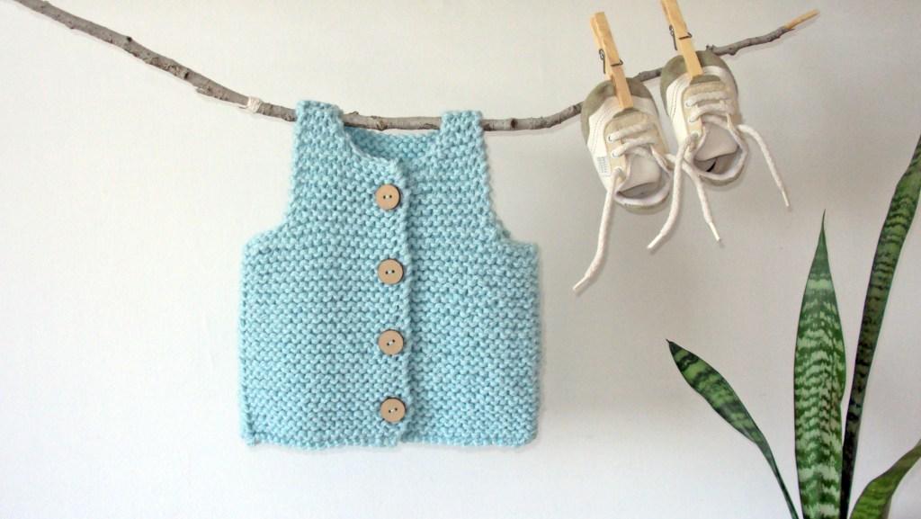 traful baby vest knitting pattern easy