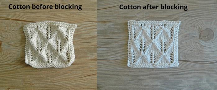 cotton bloking knitting