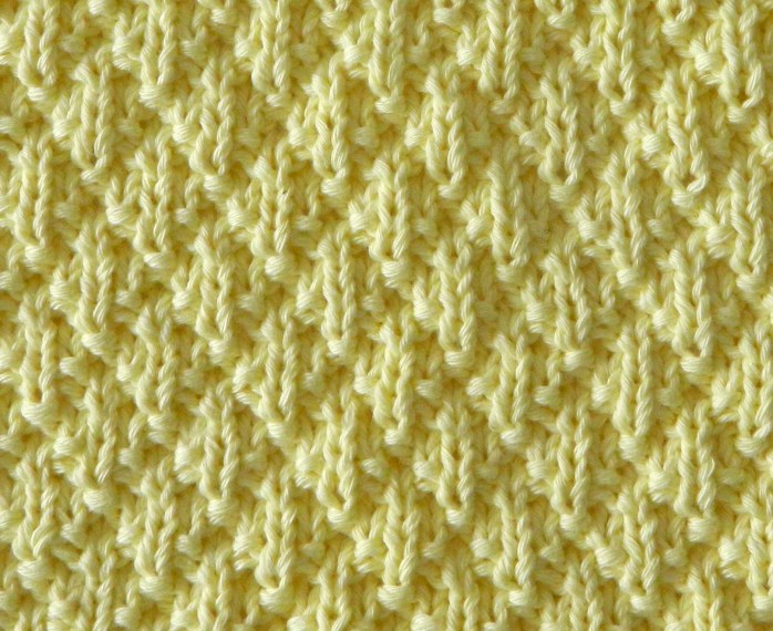 DIAMOND PADDING knitting pattern DIAMOND PADDING stitch pattern ohlalana