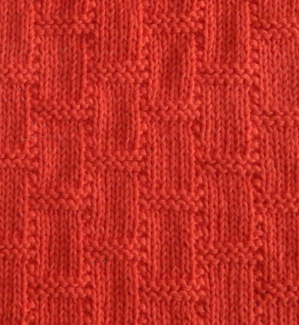 ROOF TILES knitting pattern roof tiles stitch pattern ohlalana
