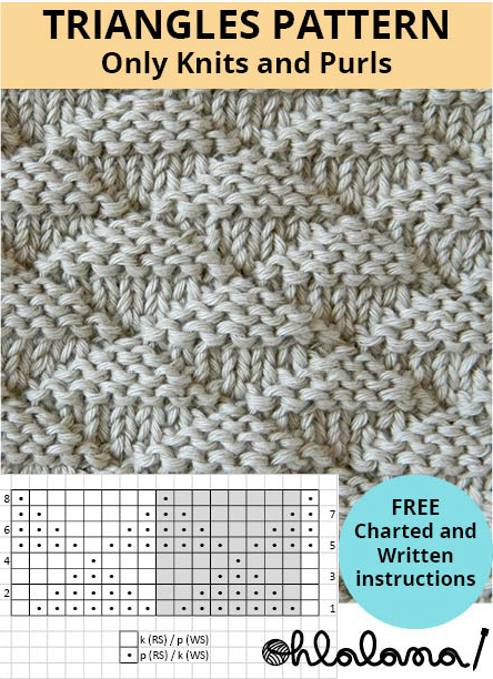 triangles stitch knitting pattern triangles knitting triangles stitch pattern