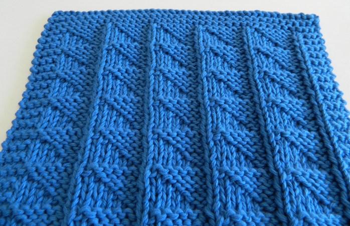 FLAGS stitch knitting pattern 52 SQUARE PICKUP knitted blanket OhLaLana dishcloth free pattern