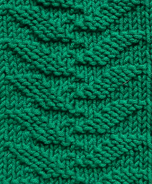 GROWING LEAVES stitch knitting pattern 52 SQUARE PICKUP knitted blanket OhLaLana dishcloth free pattern
