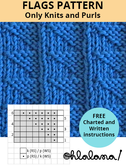 FLAGS knitting pattern FLAGS stitch pattern ohlalana