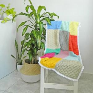 beginner sampler blanket knitting pattern