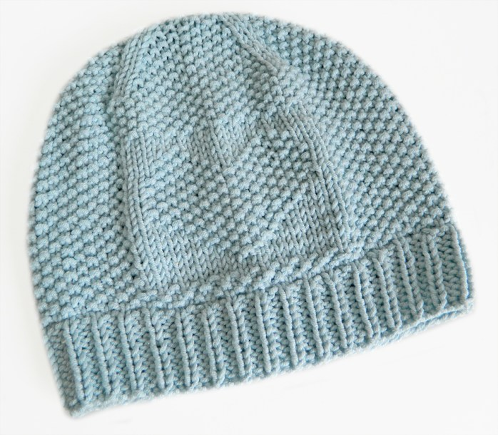 free valentines day baby hat seed moss stitch free baby hat knitting pattern