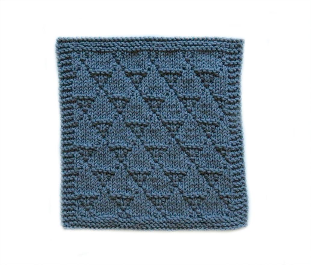 DRAGON SCALES stitch knitting pattern 52 SQUARE PICKUP knitted blanket OhLaLana dishcloth free pattern