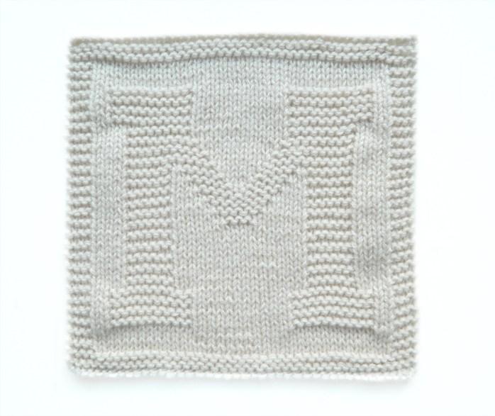 M dishcloth pattern alphabet dishcloth knitting pattern ohlalana M letter knitting pattern