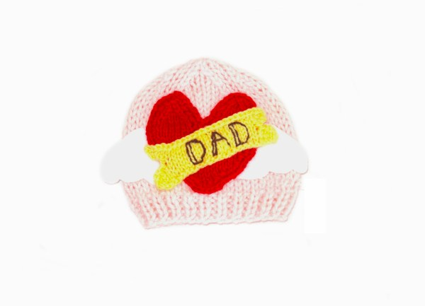ROCKER HAT baby knitting pattern TATTOO HEART baby hat I LOVE MOM baby hat pattern