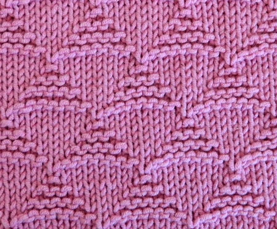 TRIANGLES stitch knitting pattern 52 SQUARE PICKUP knitted blanket TRIANGLES knitting pattern OhLaLana dishcloth free pattern