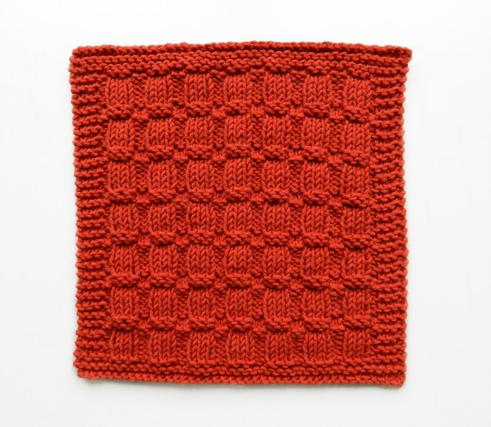 WAFFLE RIB stitch knitting pattern 52 SQUARE PICKUP knitted blanket WAFFLE RIB knitting pattern OhLaLana dishcloth free pattern