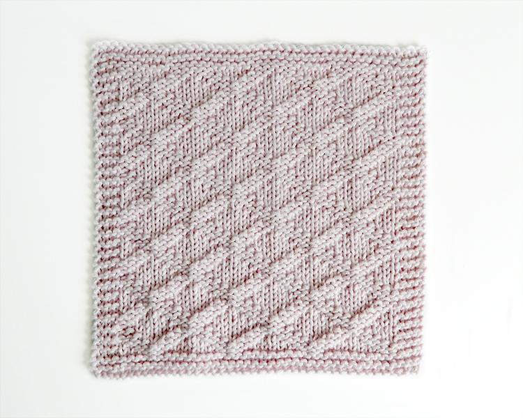 TRELLIS stitch knitting pattern 52 SQUARE PICKUP knitted blanket TRELLIS knitting pattern OhLaLana dishcloth free pattern