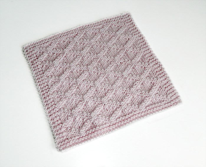 TRELLIS stitch knitting pattern 52 SQUARE PICKUP knitted blanket TRELLIS knitting pattern OhLaLana dishcloth free pattern