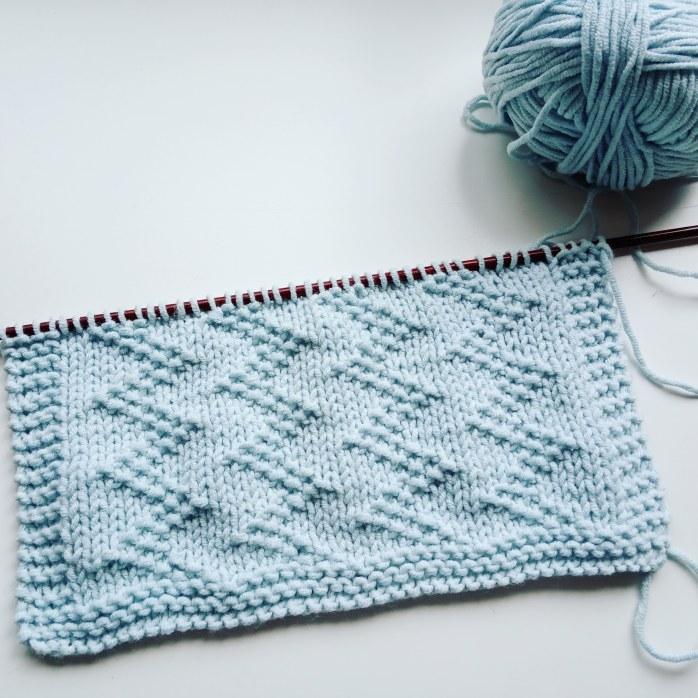 ZIG ZAG stitch knitting pattern 52 SQUARE PICKUP knitted blanket ZIG ZAG knitting pattern OhLaLana dishcloth free pattern