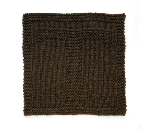 T dishcloth pattern alphabet dishcloth knitting pattern ohlalana T letter knitting pattern