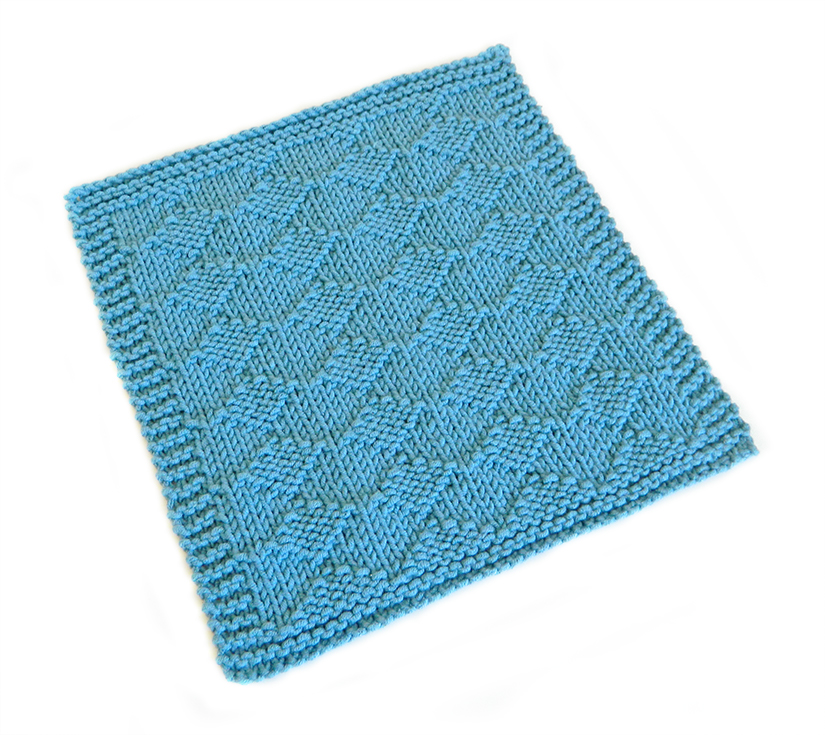 HARLEQUIN stitch knitting pattern 52 SQUARE PICKUP knitted blanket HARLEQUIN knitting pattern OhLaLana dishcloth free pattern