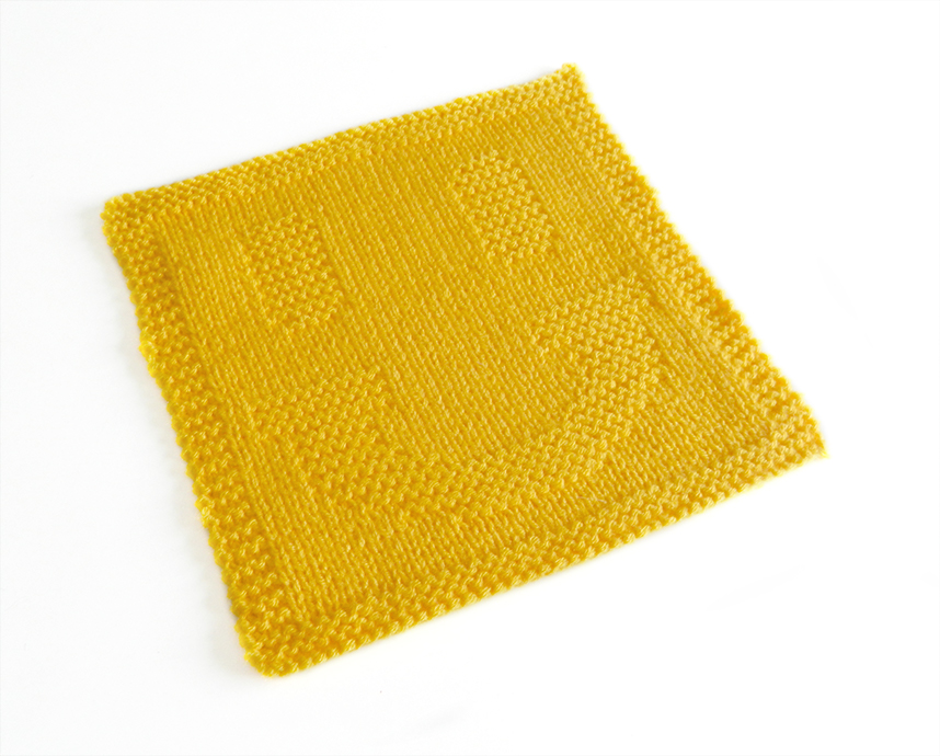 SMILEY dishcloth knitting pattern SMILEY knitting OhLaLana!