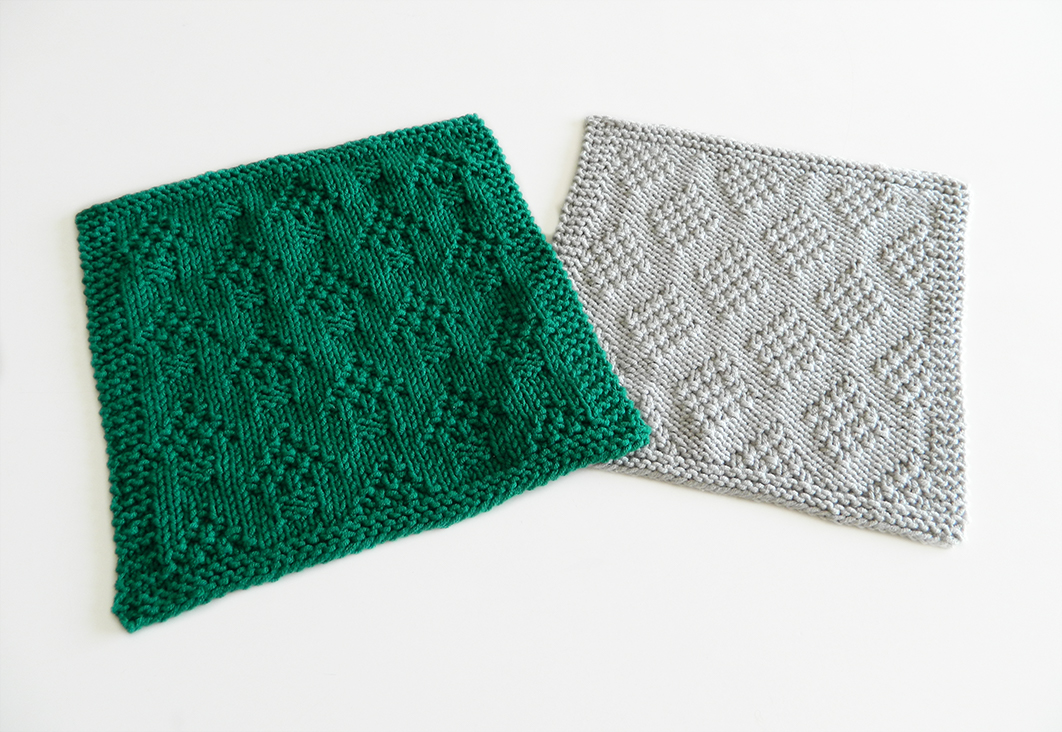 dishcloth free knitting pattern Oh La Lana! OhLaLana